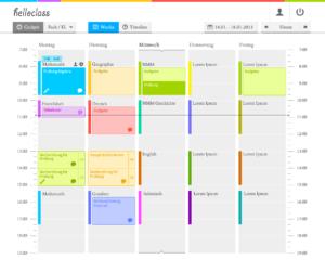 Wochenübersicht in der Webapp für Schulen