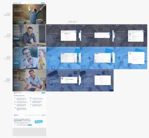 Übersicht von allen Screens der Website