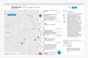 Interaktive Karte mit Chat