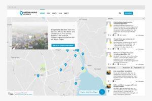 Interaktive Karte für die Stadt Thun