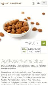 Responsive Design für den Onlineshop von Naturkostbar