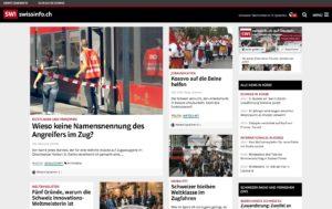 Startseite der Swissinfo