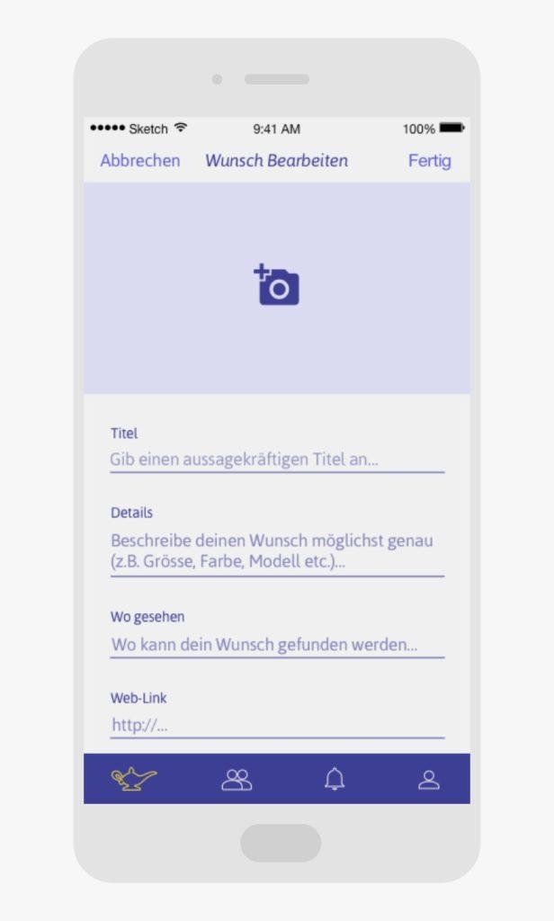 Wünsche erfassen in der Djini App