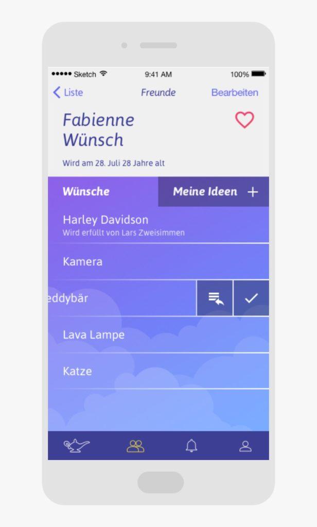 Profil Einstellungen Djini App