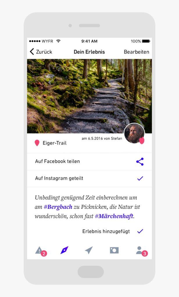 Design der Wayfarer App
