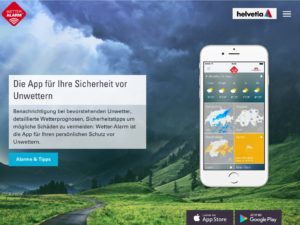 iPad Screen der App-Marketing Webseite