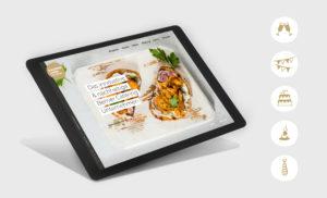 Gaumenliebe Icons und User Interface auf einem iPad