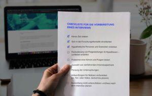 Checkliste für die Vorbereitung eines Interviews