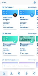 Screenshot von der Mobile App Schlüsselverwaltungssystem